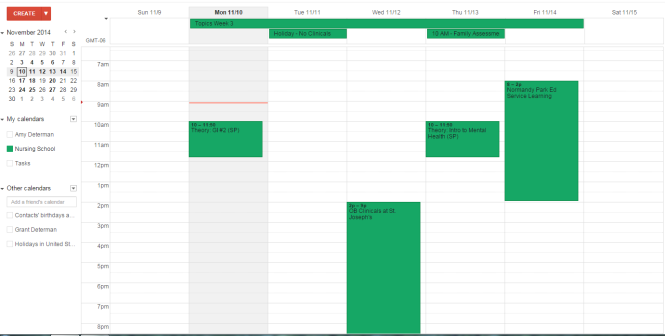 Google Calendar (Only Nursing)